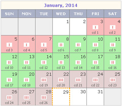 Rhythm Method Calendar View