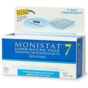 Will monistat therapy an external yeast contamination for Exterior yeast infection